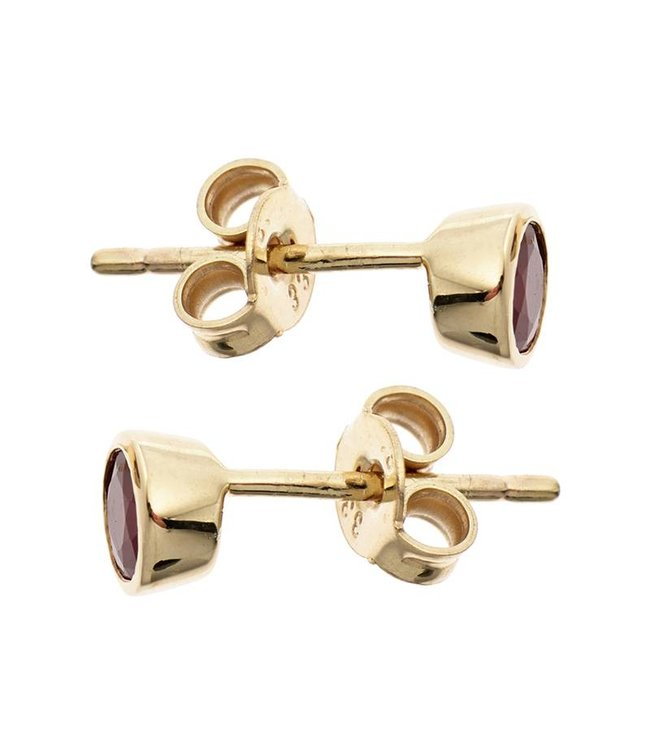 JOBO Gold earstuds (333) ruby red