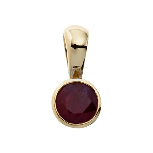 Aurora Patina Gold pendant ruby