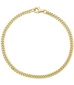 JOBO Gouden schakel armband  21 cm