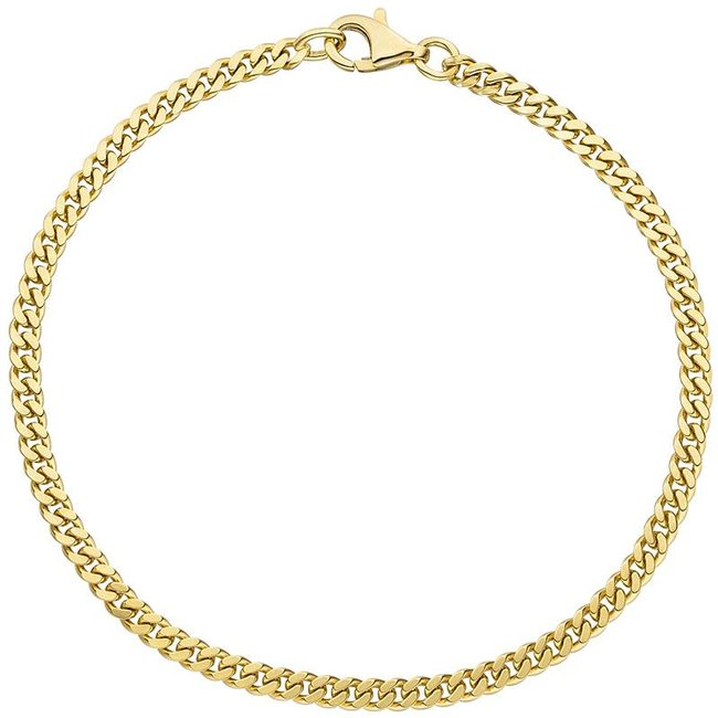 Gold chain bracelet (333) 21 cm