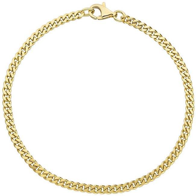 Massief gouden schakel armband (333) 21 cm