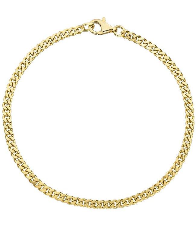 Aurora Patina Gold chain bracelet (333) 21 cm