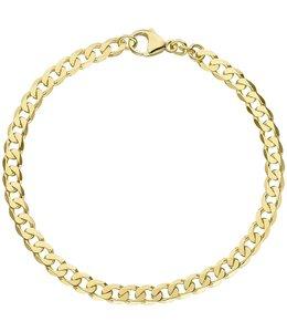 JOBO Gouden schakel armband 19 cm