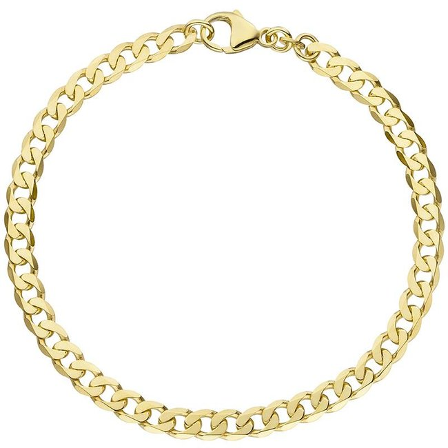 Massief gouden schakel armband (333) 19 cm
