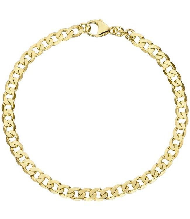 JOBO Massief gouden schakel armband (333) 19 cm