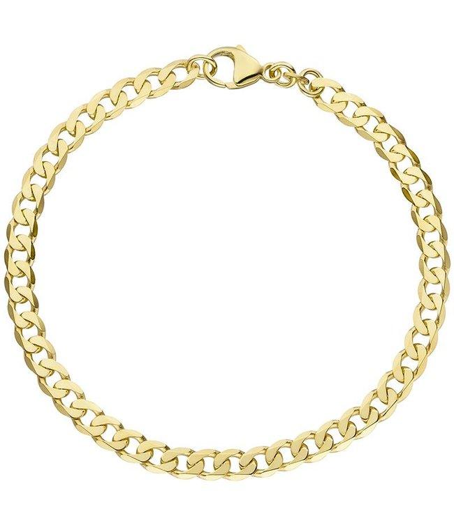 JOBO Massief gouden schakel armband (333) 21 cm