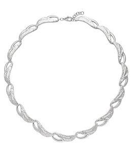Aurora Patina Halsketting gehamerd sterling zilver 50 cm