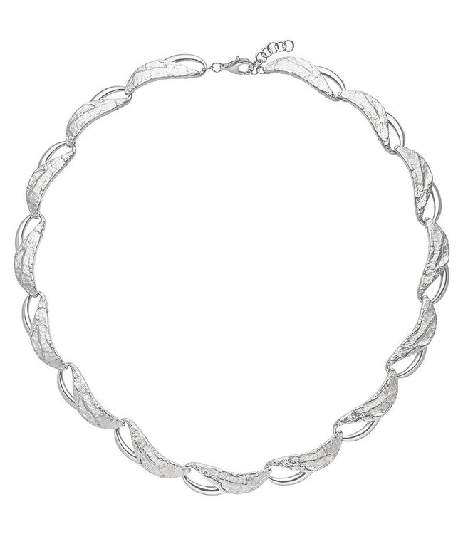 JOBO Necklace in hammered sterling silver 50 cm