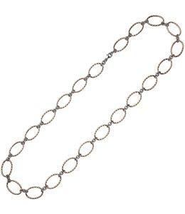Aurora Patina Rotgold plattierte Silber Halskette 80 cm