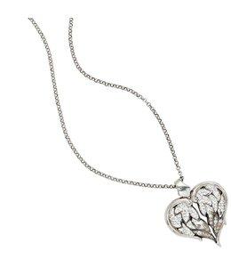 JOBO Silver necklace Swarovski Elements pendant