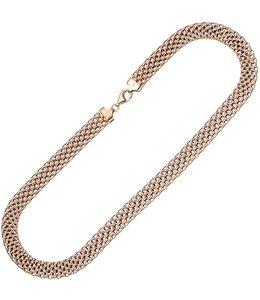JOBO Roodgoud vergulde zilveren statement halsketting 45 cm