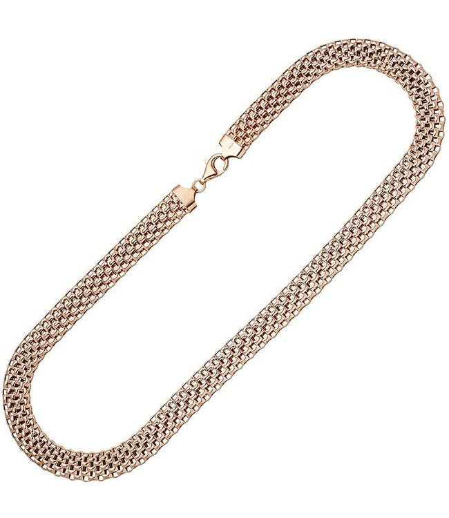 JOBO Red gold plated sterling silver necklace 45 cm