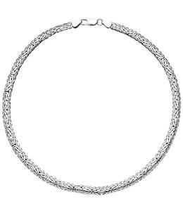JOBO Silver Byzantine Necklace 45 cm