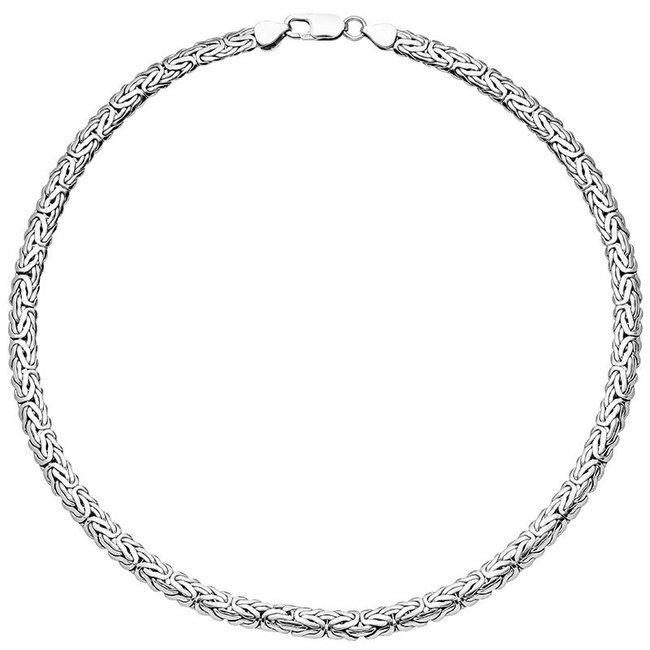 Byzantijnse Konings ketting 925 Sterling Zilver 45 cm