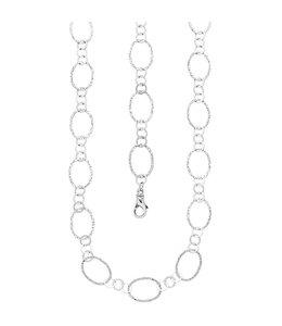 Aurora Patina Zilveren halsketting 80 cm