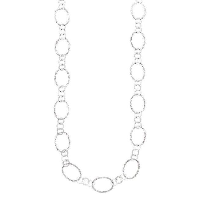 Aurora Patina Silberne Halskette 80 cm