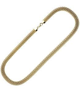 JOBO Vergoldete silberne Statement Halskette 45 cm