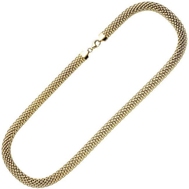 Aurora Patina Vergoldete silberne Statement Halskette 45 cm