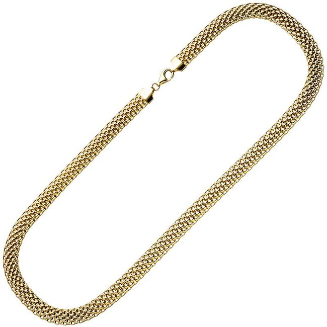 Gold plated sterling silver statement necklace 45 cm