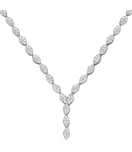 JOBO Silver necklace with 234 zirconia 44 cm