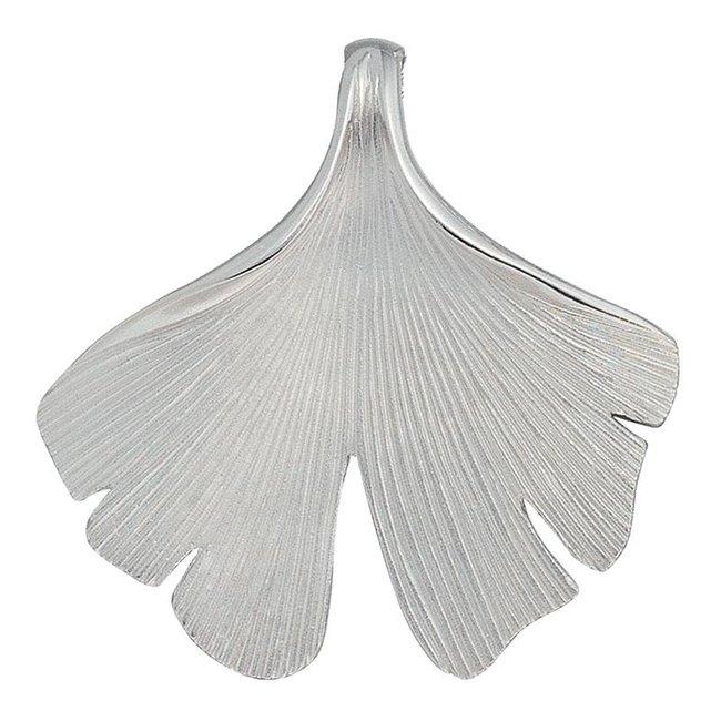 Zilveren hanger Ginkgo gematteerd (925)