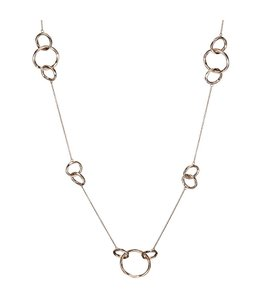 Aurora Patina Rotvergoldete Silber Halskette 70 cm