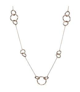JOBO Rood goud vergulde zilveren halsketting 70 cm