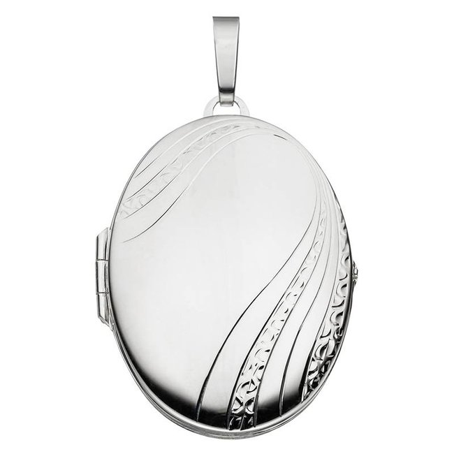Sterling silver locket with decorations for 2 photos