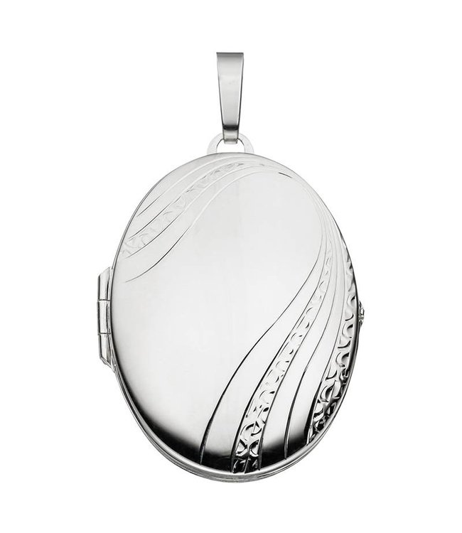 Aurora Patina Sterling silver locket with decorations for 2 photos