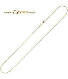 Aurora Patina Gouden kogel halsketting 42 cm Ø 1.5 mm