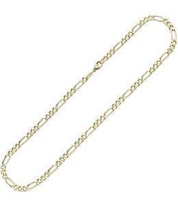 JOBO Goldene Halskette Figaro 42 cm