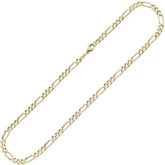Aurora Patina Gouden halsketting Figaro 42 cm