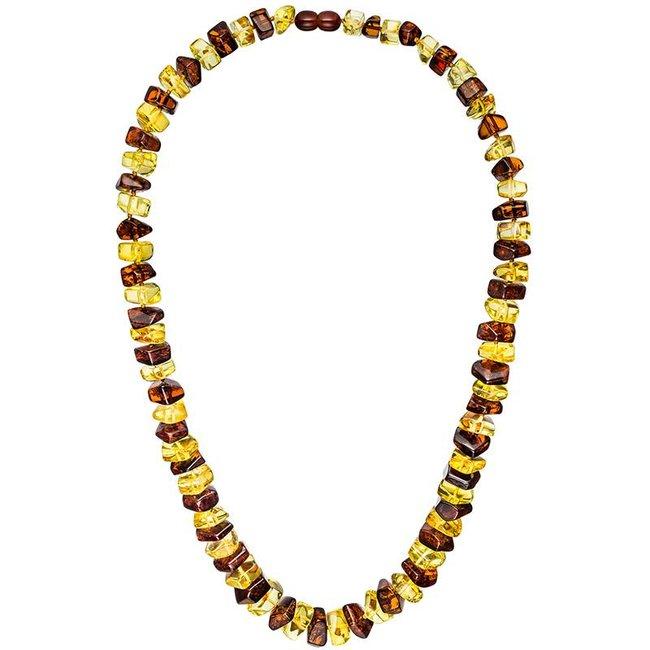 Amber necklace small to large size in 2 colors 58 cm
