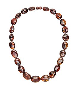 Aurora Patina Amber necklace small to large sizes 50 cm