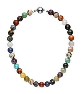 Aurora Patina Necklace with gemstones multicolor