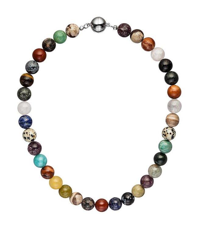 JOBO Collier met edelstenen in verschillende kleuren