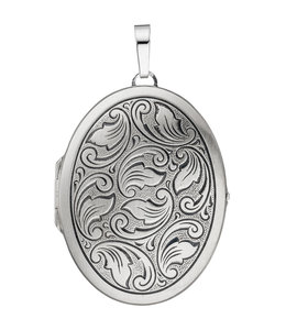 JOBO Sterling silver locket matt partially blackened