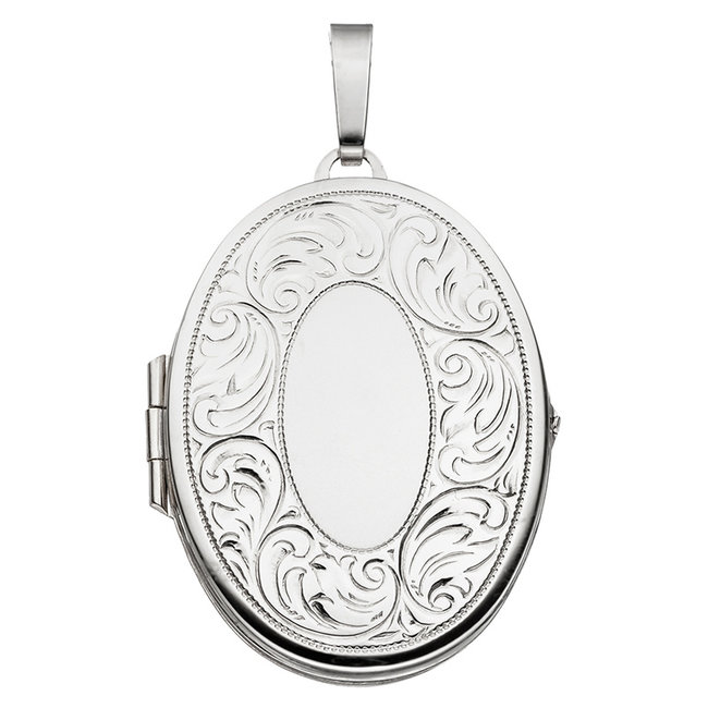 Aurora Patina Sterling silver locket with  vintage decorations