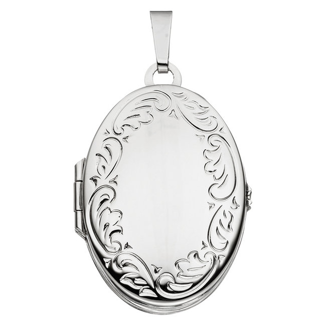 Sterling silver locket with  vintage decorations for 4 photos