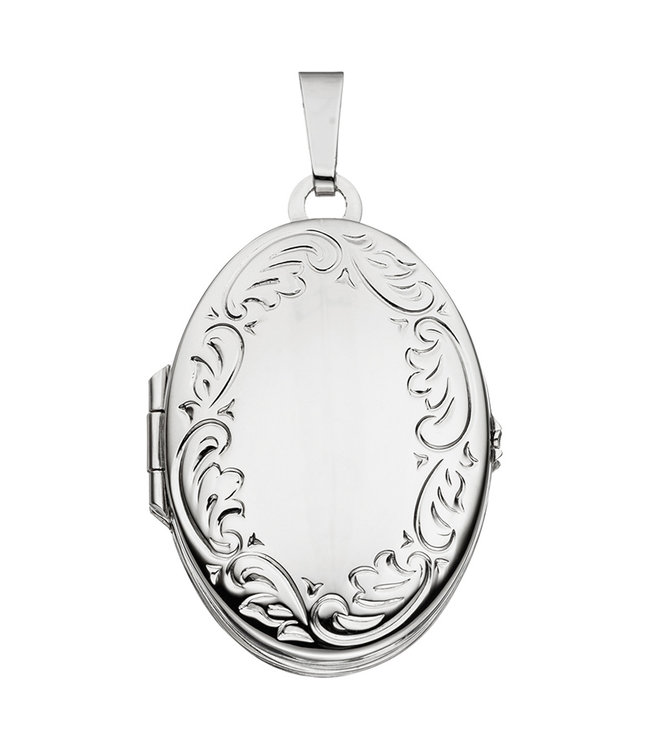 JOBO Sterling silver locket with  vintage decorations for 4 photos