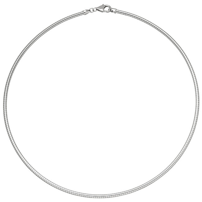 Aurora Patina Zilveren choker 45 cm Ø 1,4 mm
