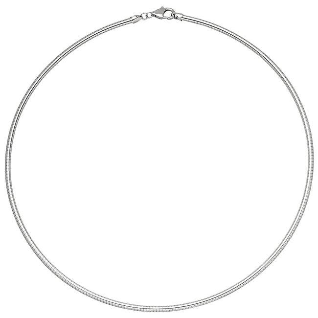 Aurora Patina Zilveren slangenketting Ø 1,4 mm 45 cm
