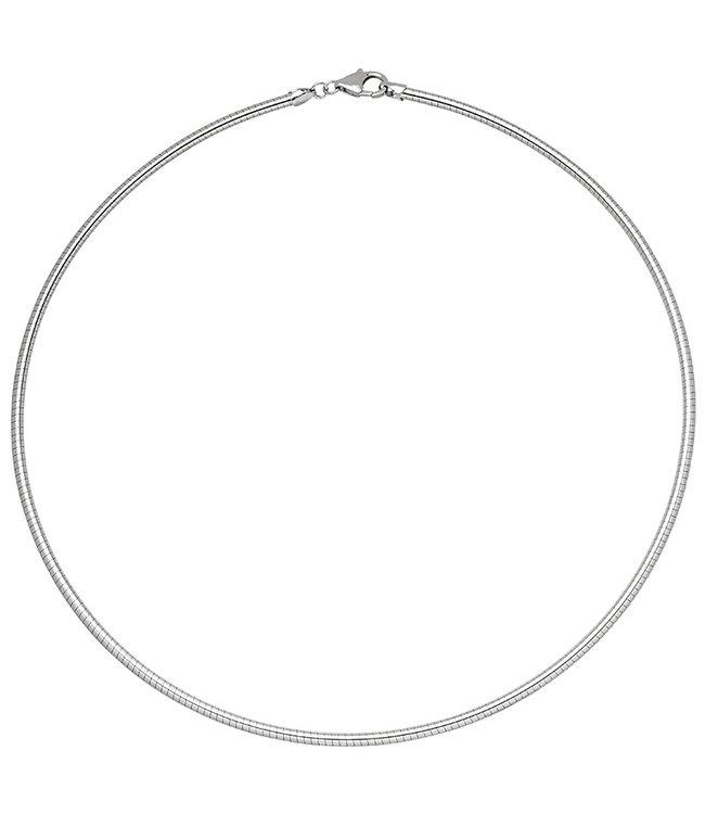 Aurora Patina Halsreif 925 Sterling Silber Kettenstärke 1,4 mm Länge 45 cm