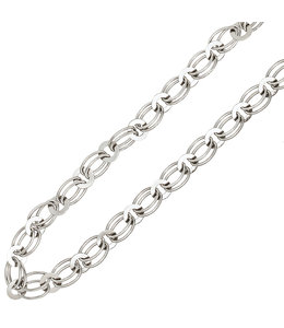 Aurora Patina Silver link necklace 45 cm