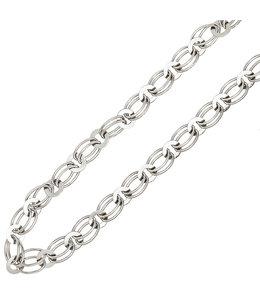 JOBO Zilveren schakel collier 45 cm