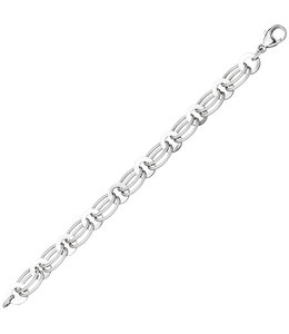 Aurora Patina Silver link bracelet 19 cm