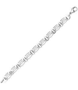Aurora Patina Zilveren schakel armband 19 cm