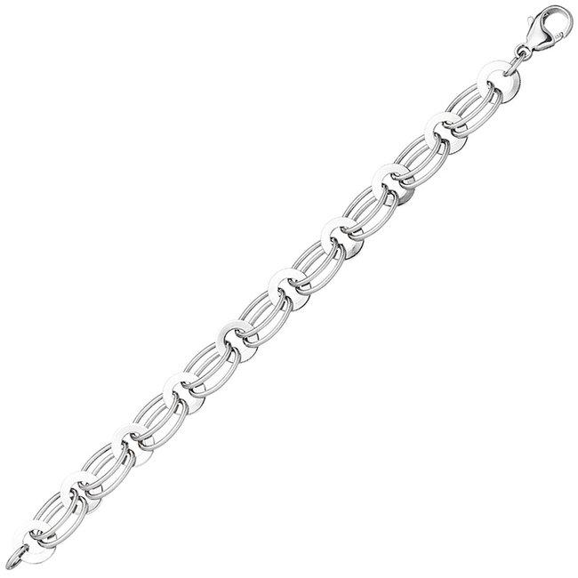 Schakel armband 925 Sterling Zilver lengte 19 cm