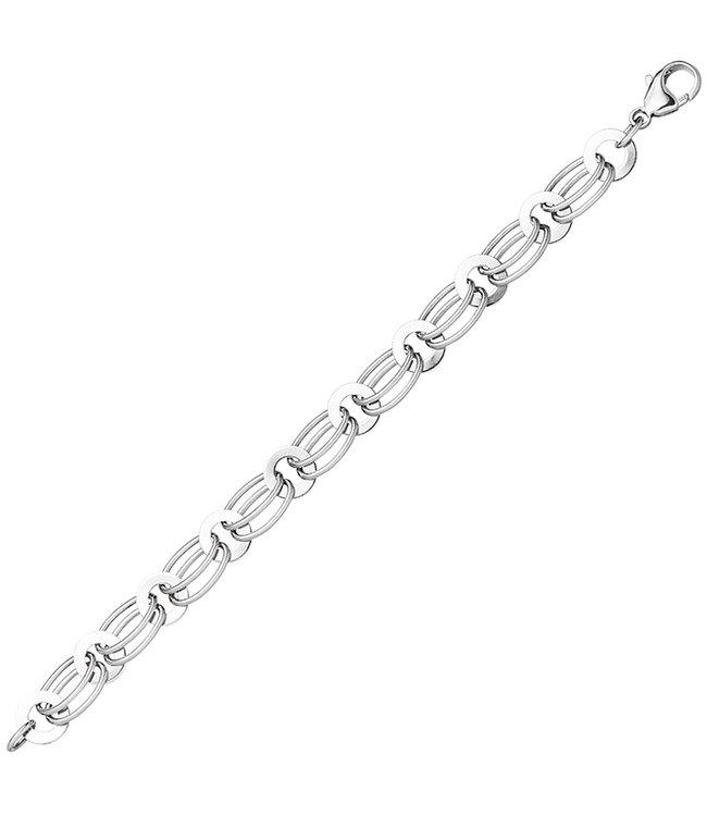 JOBO Schakel armband 925 Sterling Zilver lengte 19 cm