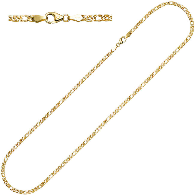 Gold necklace 14ct. 585 with a length of 45 cm